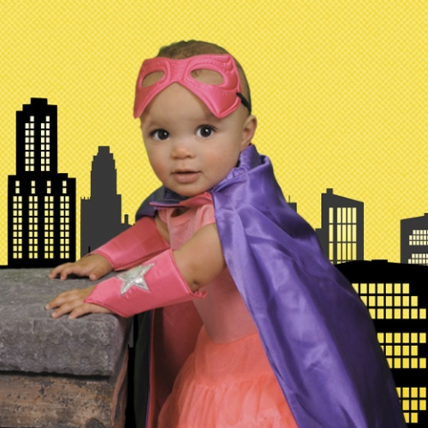 Baby girl superhero